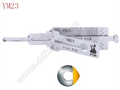 YM23 Lishi 2-in-1 Pick/Decoder